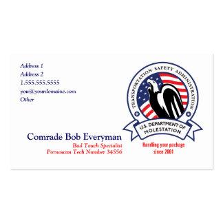 TSA Agent-Parodie-Karten Visitenkarten