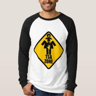 TSA Zonen-Vorsicht-Zeichen-Entwurf T-Shirt