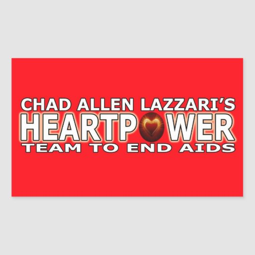 Tschad Allen Lazzari HEARTPOWER Rechtecksticker