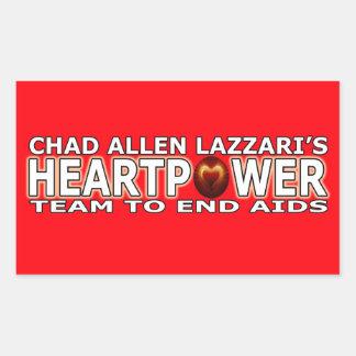 Tschad Allen Lazzari HEARTPOWER Rechteckiger Aufkleber