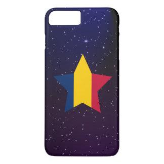 Tschad-Stern-Entwurfs-Flagge iPhone 8 Plus/7 Plus Hülle