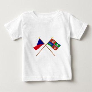 Tscheche und Usti nad Labem gekreuzte Flaggen Baby T-shirt