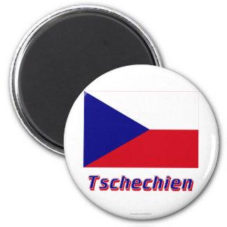 Tschechien Flagge MIT Namen Magnets