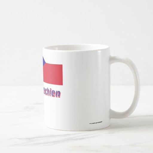 Tschechien Flagge MIT Namen Tee Haferl