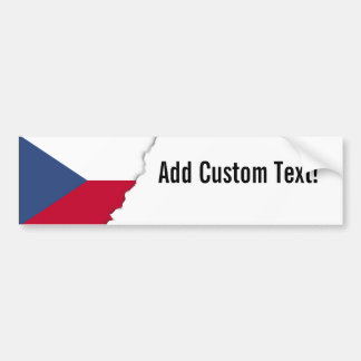 Tschechische Flagge Autoaufkleber