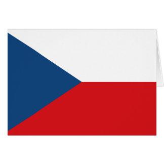 Tschechische Flagge Grußkarten