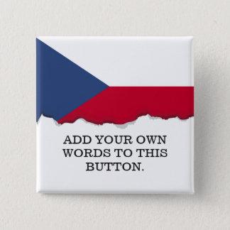 Tschechische Flagge Quadratischer Button 5,1 Cm
