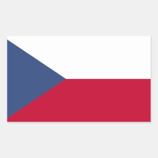 Tschechische Flagge Rechteckiger Aufkleber