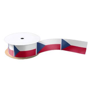 Tschechische Flagge Satinband