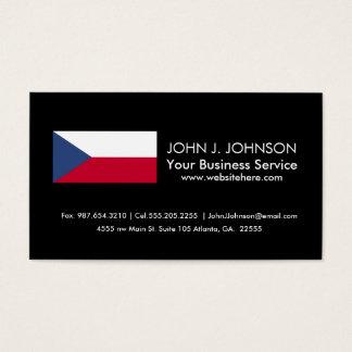 Tschechische Flagge Visitenkarten