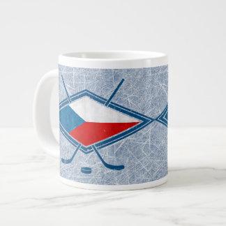Tschechische Hockey-Flaggen-Logo český Tunnel-bohr Extragroße Tassen
