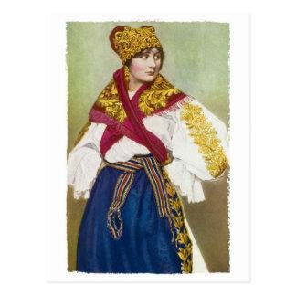 Tschechische Mädchen-Postkarte Postkarte