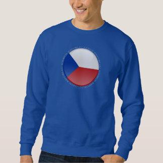Tschechische Republik-Blasen-Flagge Sweatshirt