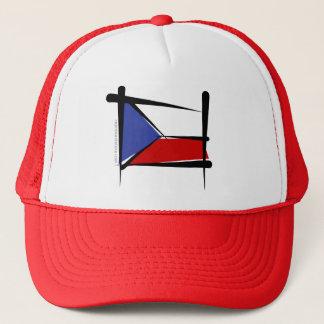 Tschechische Republik-Bürsten-Flagge Truckerkappe