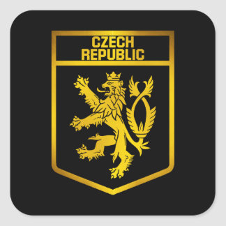 Tschechische Republik-Emblem Quadratischer Aufkleber