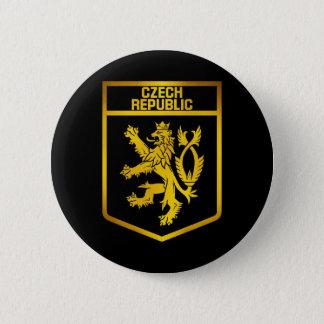 Tschechische Republik-Emblem Runder Button 5,7 Cm