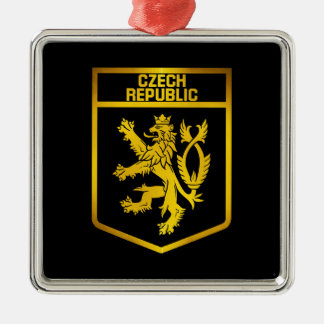 Tschechische Republik-Emblem Silbernes Ornament