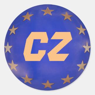 Tschechische Republik-europäische Runder Aufkleber