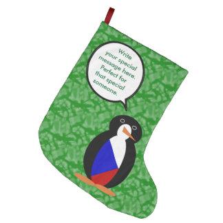 Tschechische Republik-Feiertags-Herr Penguin Großer Weihnachtsstrumpf