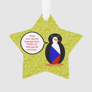 Tschechische Republik-Feiertags-Herr Penguin Ornament
