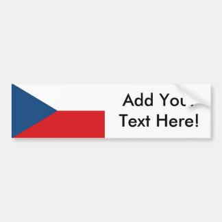 Tschechische Republik-Flagge Autoaufkleber