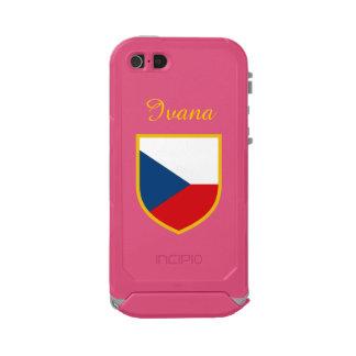 Tschechische Republik-Flagge besonders angefertigt Incipio ATLAS ID™ iPhone 5 Hülle