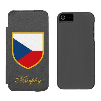 Tschechische Republik-Flagge besonders angefertigt Incipio Watson™ iPhone 5 Geldbörsen Hülle