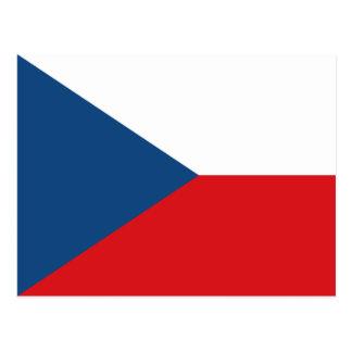Tschechische Republik-Flagge CZ Postkarte