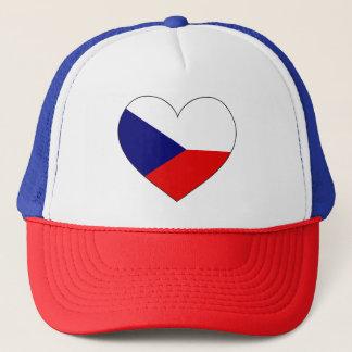 Tschechische Republik-Flagge einfach Truckerkappe