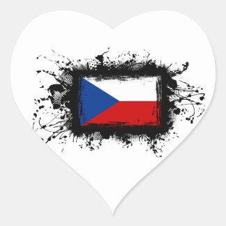 Tschechische Republik-Flagge Herz-Aufkleber