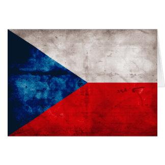 Tschechische Republik-Flagge Mitteilungskarte