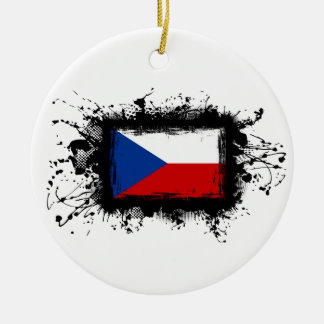 Tschechische Republik-Flagge Keramik Ornament