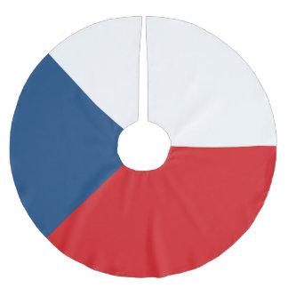Tschechische Republik-Flagge Polyester Weihnachtsbaumdecke