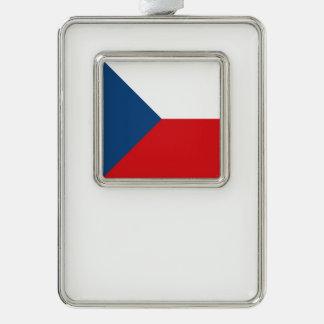 Tschechische Republik-Flagge Rahmen-Ornament Silber