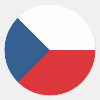 Tschechische Republik-Flagge Runder Aufkleber
