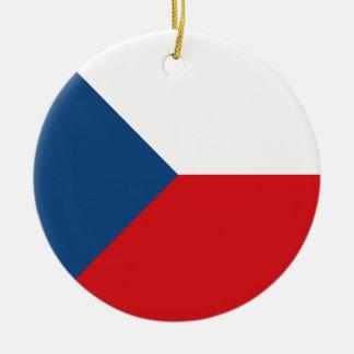 Tschechische Republik-Flagge Rundes Keramik Ornament