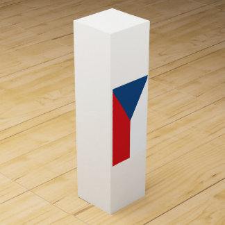 Tschechische Republik-Flagge Wein-Geschenkverpackung