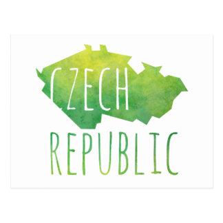 Tschechische Republik-Karte Postkarte