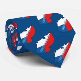 Tschechische Republik-Karte und Flagge Krawatte