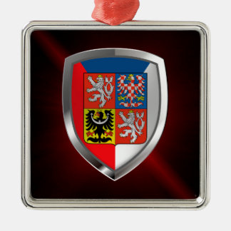 Tschechische Republik-metallisches Emblem Silbernes Ornament