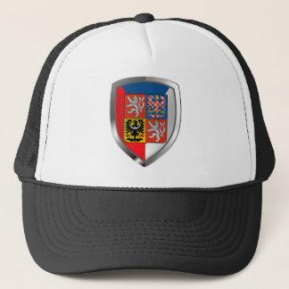 Tschechische Republik-metallisches Emblem Truckerkappe