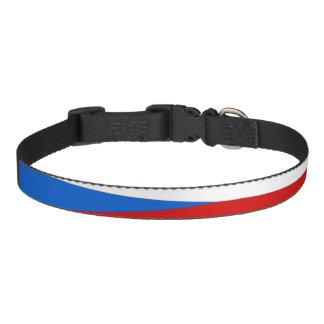 Tschechische Republik stripes Flagge Haustierhalsband