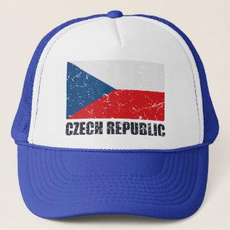 Tschechische Republik-Vintage Flagge Truckerkappe