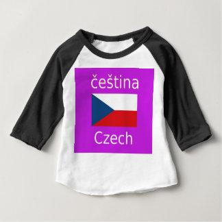 Tschechischer Flaggen-und Sprachentwurf Baby T-shirt