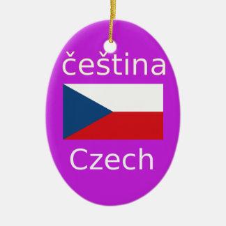 Tschechischer Flaggen-und Sprachentwurf Keramik Ornament