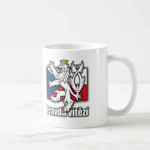 Tschechisches Löwe-Wappen Flagge Tee Haferl