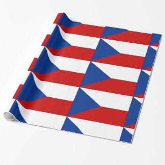 Tschechisches rotes weißes Blau Geschenkpapier
