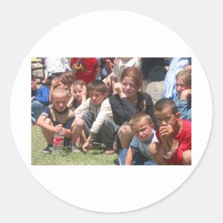 Tschetschenische Kinder Runder Sticker