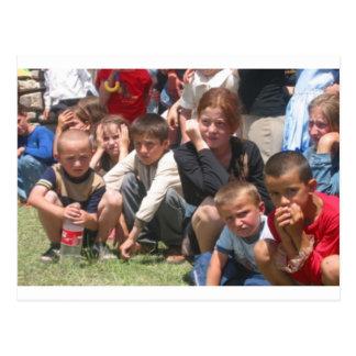 Tschetschenische Kinder Postkarte