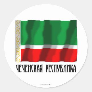 Tschetschenische Republik-Flagge Runder Aufkleber